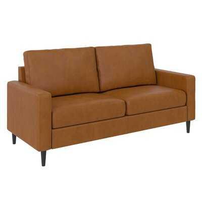"Mckinsey 72"" Wide Faux Leather Square Arm Sofa - Wayfair"