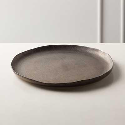 Damascene Bronze Metallic Serving Tray - CB2