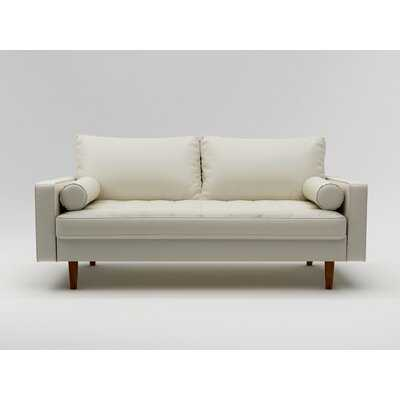 70'' Wide Faux Leather Square Arm Sofa - Wayfair