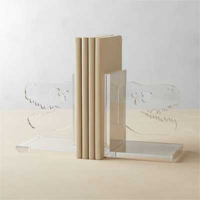 Acrylic Dinosaur Bookends, Set of 2 - Crate and Barrel