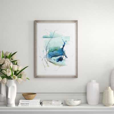 "Chelsea Art Studio 'Ocean Voice IV' Graphic Art Print Format: Glass Coat, Size: 48"" H x 36"" W x 2"" D - Perigold"