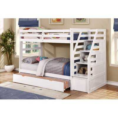 Marchan Twin Over Twin Bunk Bed with Trundle - Wayfair