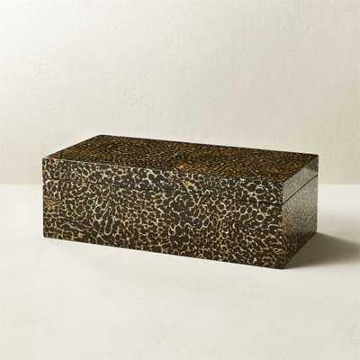 Fleck Eggshell Inlay Box - CB2