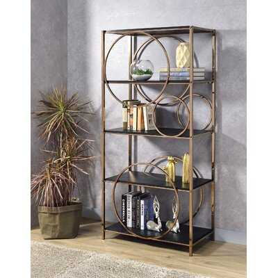 Lopez 68'' H x 32'' W Metal Standard Bookcase - Wayfair