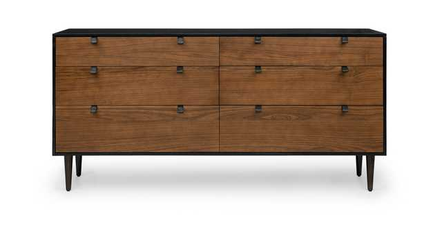 Envelo Black / Walnut 6 Drawer Double Dresser - Article