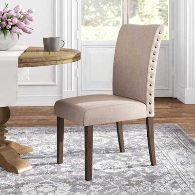 Howie Tufted Parsons Chair in Beige - Wayfair