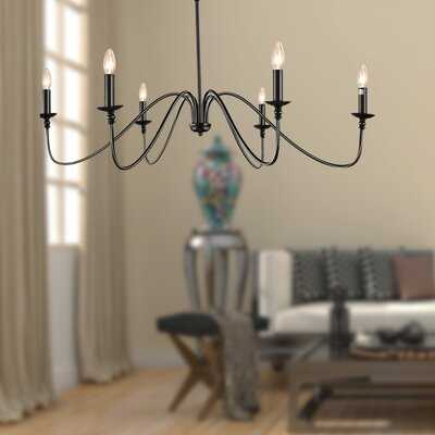 Grimaldi 6 - Light Candle Style Empire Chandelier - Wayfair