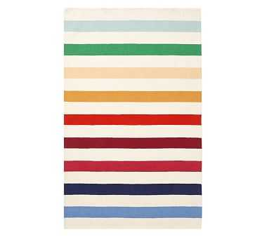 Rainbow Rugby Stripe Rug, 3X5', Multi - Pottery Barn Kids