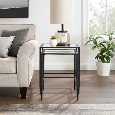 Danet Glass Top C Table Nesting Tables - Wayfair