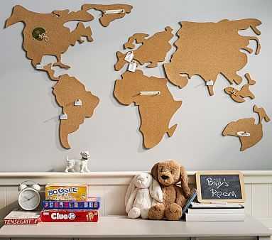 World Map Corkboard - Pottery Barn Kids