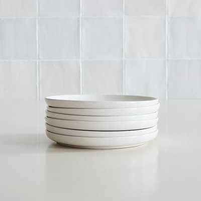 Dinnerware Stoneware, Salad Plate, Stoneware, White, Set of 6 - West Elm