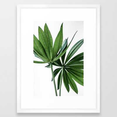 Leaves 8 Framed Art Print by Mareike BaPhmer - Vector White - MEDIUM (Gallery)-20x26 - Society6