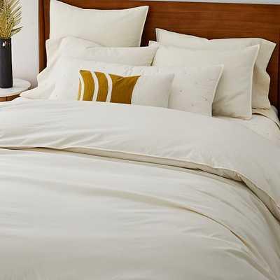 Organic Washed Cotton Duvet, King Duvet & King Shams, Ivory - West Elm