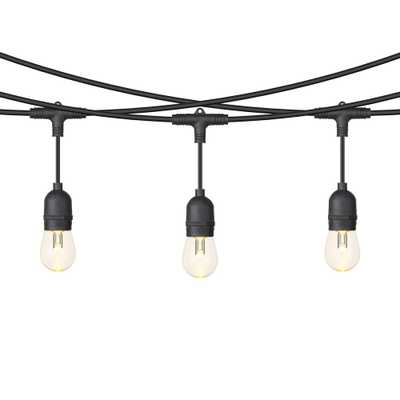 OVE Decors Outdoor 24 ft. Line Voltage S14 II Bulb RGB String Light with Remote Control - Home Depot