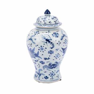 Legend of Asia Fish Shrimp & Crab Ginger Decorative Jar - Perigold