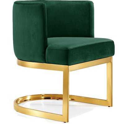 Hobson Velvet Upholstered Wingback Arm Chair - Wayfair