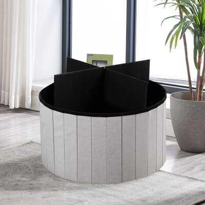 25'' Round Storage Ottoman - Wayfair