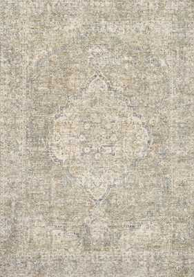 "Loloi Revere REV-08 Granite / Blue 7'-10"" x 10' - Loma Threads"
