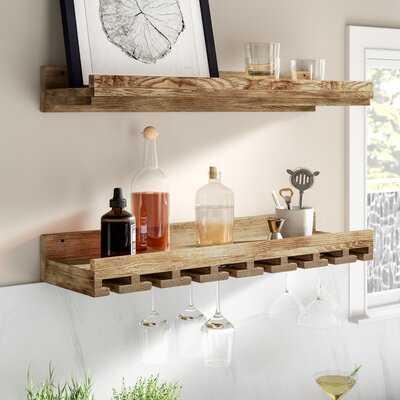 Oconner Wall Mounted Wine Glass Rack - Birch Lane
