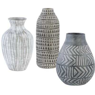 Hawken 3 Piece Table Vase Set - AllModern