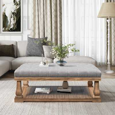 Irven Frame Coffee Table with Storage - Wayfair
