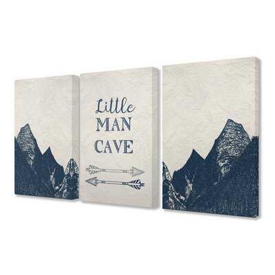 Man Cave Arrows and Mountains Canvas Art (Set of 3) - Wayfair