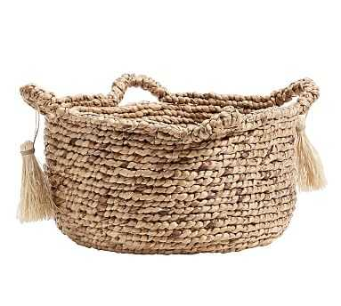 Palma Round Handled Seagrass Basket, Large - Pottery Barn