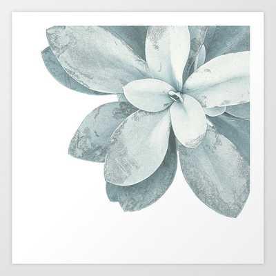 Blue Green Succulent Plant Art Print by Christina Lynn Williams - LARGE - Society6