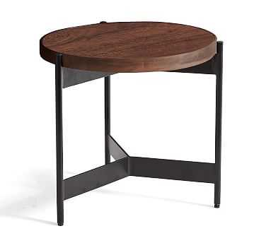 Warren Round Wood End Table - Pottery Barn