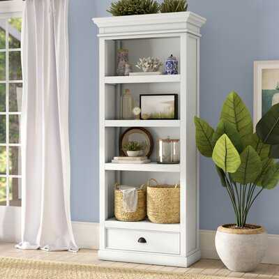 "Fairchild 74.8"" H x 31.5"" W Solid Wood Standard Bookcase - Wayfair"