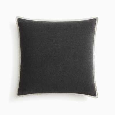 "Classic Cotton Velvet Pillow Cover, 20""x20"", Slate - West Elm"
