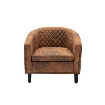 Accent Barrel Chair Living Room Chair With Nailheads And Solid Wood Legs - Wayfair