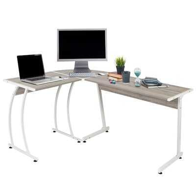 Ethan L-Shaped Corner Computer Desk Table, Large And Spacious For Dual Monitors, Perfect For Home Office, Writing Workstation, Gaming, 3-Piece Reversible Setup, Gray Walnut - Wayfair