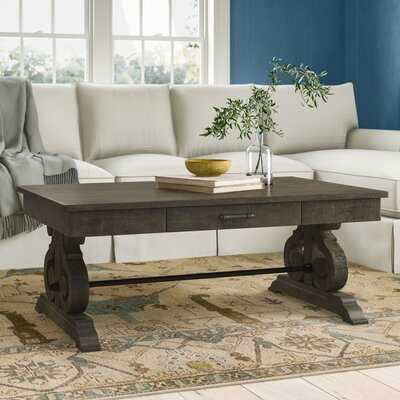 Voyager Solid Wood Trestle Coffee Table - Birch Lane