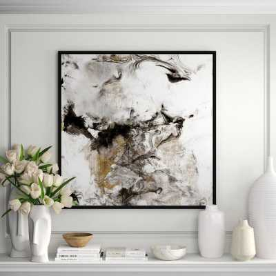 JBass Grand Gallery Collection 'Marble Onyx II' Framed Print on Canvas - Perigold