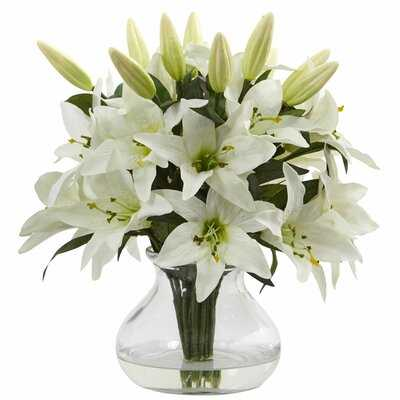 Lily Floral Arrangement in Vase - Birch Lane