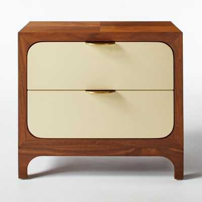 Paterson Lacquered Ivory Nightstand - CB2