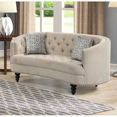 Fricke Chesterfield 64'' Recessed Arm Loveseat - Wayfair