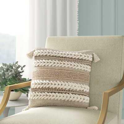 Wylie Texture Throw Pillow Cover - Wayfair