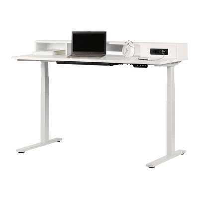 Majyta Adjustable Height Standing Desk With Built In Power Bar - Wayfair