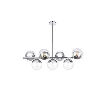 Yearby 7 - Light Sputnik Modern Linear Chandelier - Wayfair