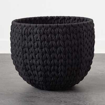 Conway Extra Large Black Basket - CB2