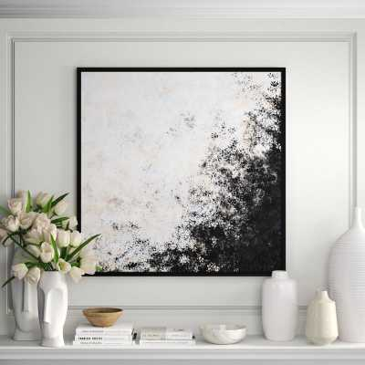 JBass Grand Gallery Collection 'Abstract Painting 1' Framed Graphic Art Print on Canvas - Perigold