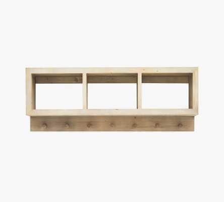 Folsom Entryway Wall Shelf with Hooks, Desert Pine - Pottery Barn