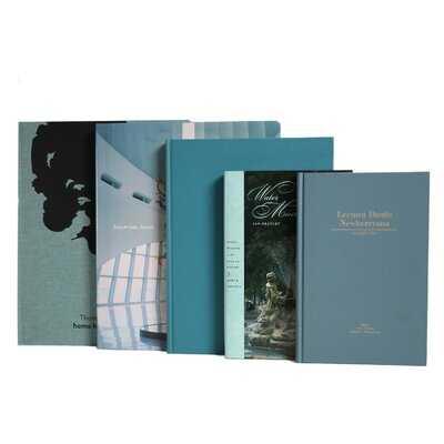 5 Piece Gulf Coast ColorStak Authentic Decorative Book Set - Wayfair