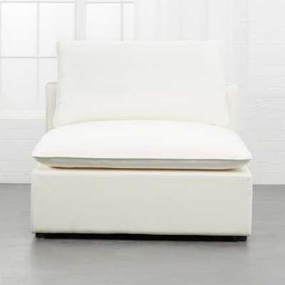 Lumin White Linen Armless Chair - CB2