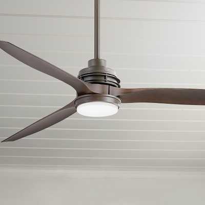 "60"" Artiste Metallic Matte Bronze LED Wet-Rated Ceiling Fan - Style # 84H24 - Lamps Plus"