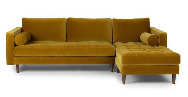 Sven Yarrow Gold Right Sectional Sofa - Article