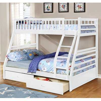 Claret Twin Over Full Bunk Bed with Drawers - Wayfair