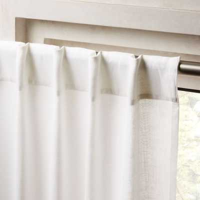 "Heavyweight White Linen Curtain Panel 48""x96"" - CB2"